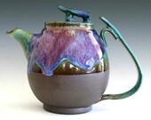 Bloom of Lilac Teapot, Handmade Stoneware Teapot