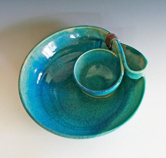Chip and Dip, Veggie Dip, handmade ceramic dish