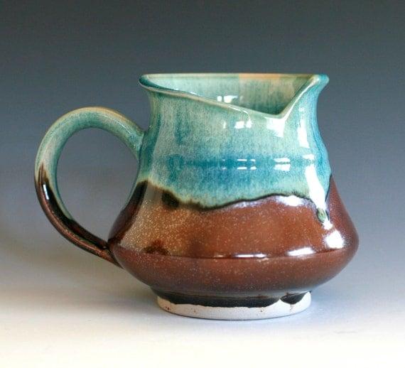 Modern Coffee Mug, Holds 20 oz, handmade ceramic cup, ceramic stoneware mug