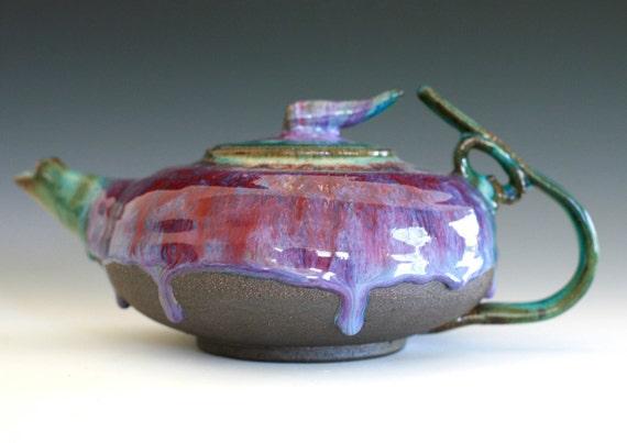 Tama, Jewel Teapot, Handmade Stoneware Teapot, Holds 45 oz