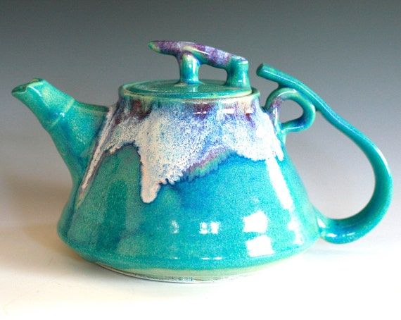 RESERVED FOR GERDDI, Mika, New Moon Teapot, Ceramic Teapot, ceramics and pottery
