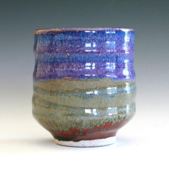 Purple Tea Cup, handmade ceramic tea cup, handmade pottery, Yunomi