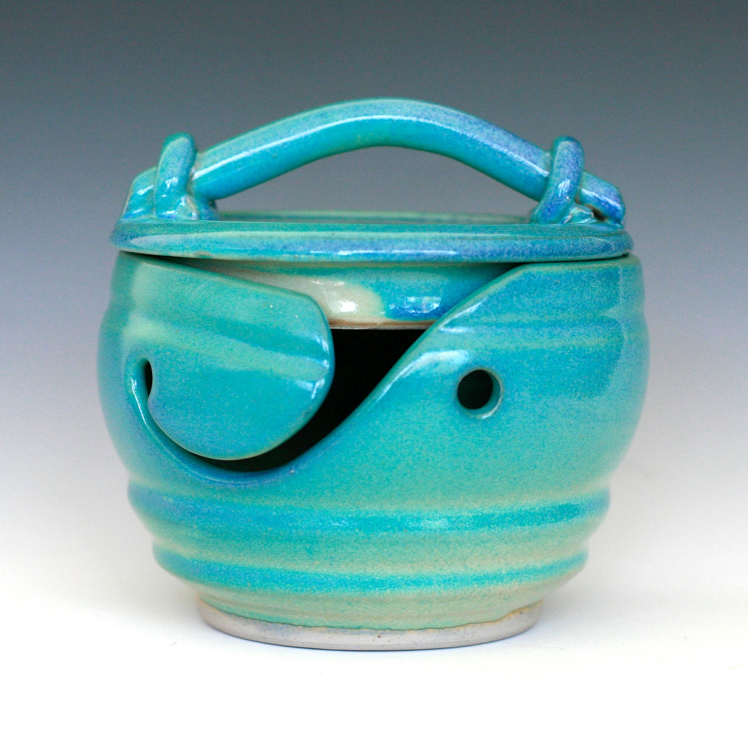 Knitting Bowl Canada : Kitty proof yarn bowl handmade ceramic in by