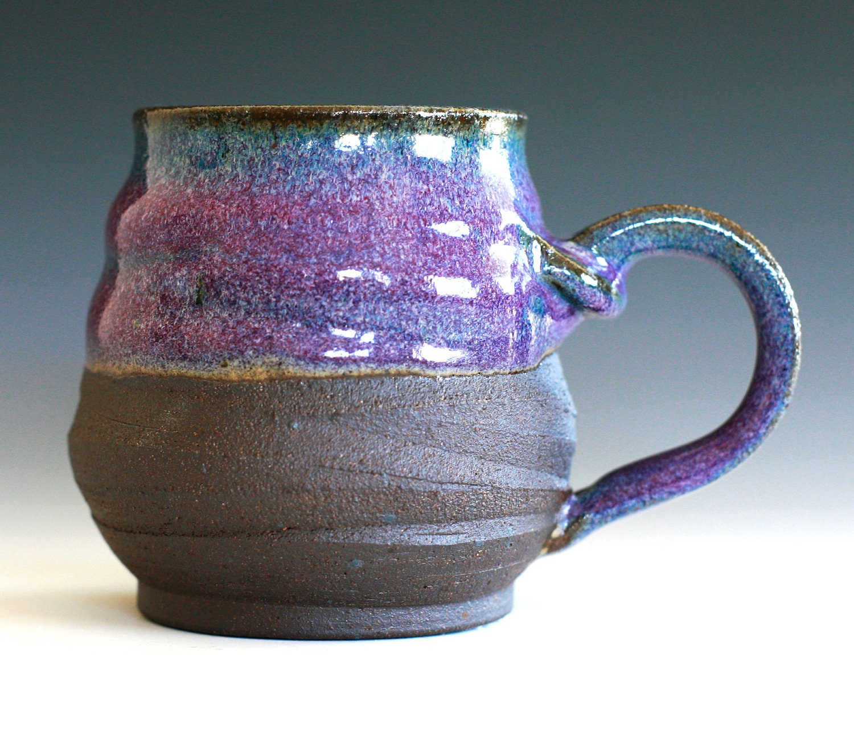 Purple Coffee Mug handmade ceramic cup ceramic by ocpottery