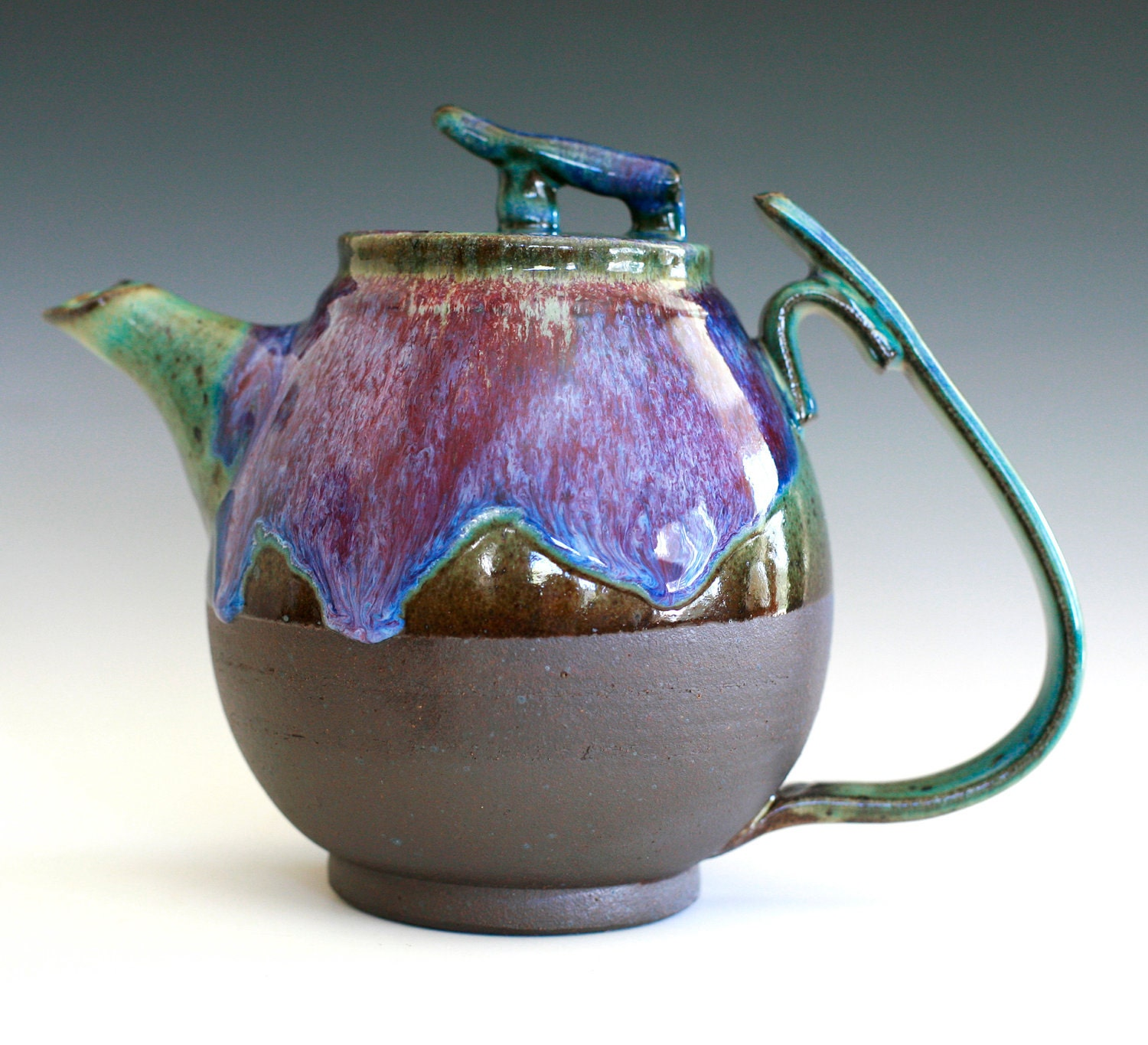 Bloom of Lilac Teapot Handmade Stoneware Teapot