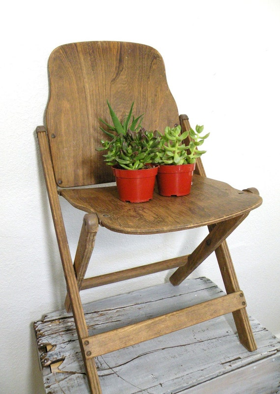 vintage antique wooden folding chair by experimentalvintage