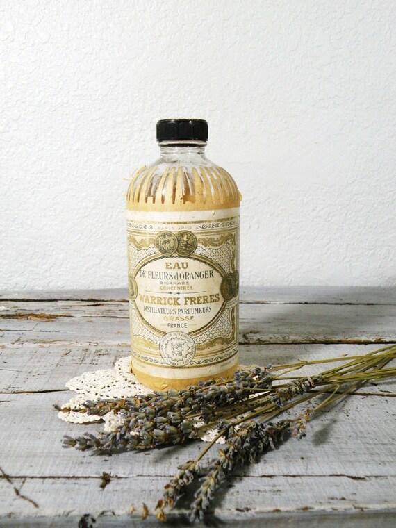 vintage eau de fleurs french bottle