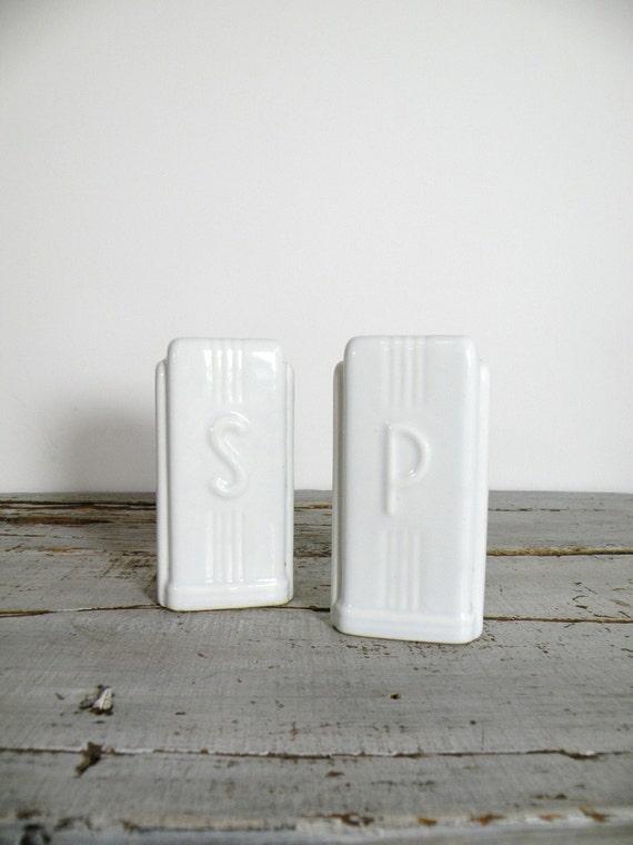 vintage deco salt and pepper shakers