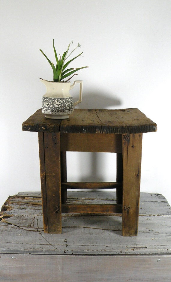 RESERVED FOR CRAZYFORCLOTHES-vintage wooden stool
