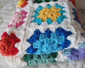 Custom Order - Colorful Granny Square Baby Afghan Blanket - Baby Shower Gift