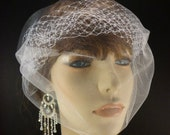 """The French Illusion Double layer Tulle Veil in White 9"""" x 15""""  Many ways to wear this one"""