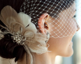 Wedding Hair Clip, Bridal Hair Clip, Great Gatsby Headpiece, Bridal Hair Accessory, Wedding Hair Clip, Wedding Veil, Speakeasy