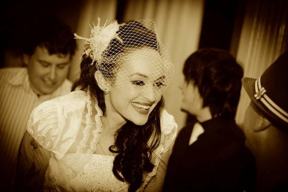 Wedding Fascinator, Bridal Hair Clip, Feather Hair Clip, Great Gatsby Headpiece, Bridal Hair Accessory, Wedding Hair Clip, Wedding Veil