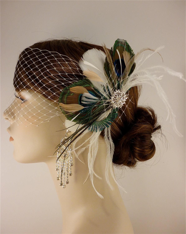 Bridal Feather Fascinator Bridal Fascinator Feather