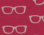 JG-99300-304A Fuschia Glasses, Kokka, Eyeglasses, Linen, Japanese, OOP