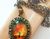 Twilight -- Wearable Art Cameo Necklace
