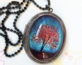 Maple Fall -- Wearable Art Locket