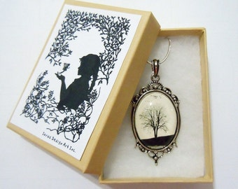Serenity -- Wearable Art Cameo Necklace-christmas gifts