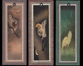 Koson Owl Crane & Moon Bookmarks bmbs030