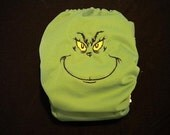 The Grinch embroidered cloth pocket diaper