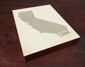 I Love San Diego Wood Block Art Print - California City State Heart