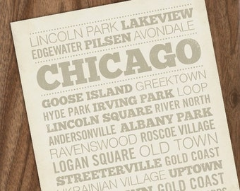Chicago Neighborhood 8 x10 Art Print