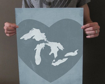 The Great Lakes - 16x20 Art Print