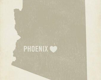 I Love Phoenix - 8x10 Art Print