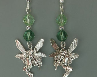 Magical Fairy Tale Charm Peridot Crystals Earrings