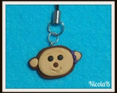 Funky Monkey Cell Phone Charm