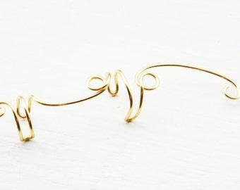 Ear Cuff Gold Double Ear Wrap