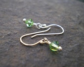 Petite Pretties - Any Birthstone Crystal - Sterling Earrings
