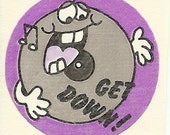 Vintage 80's Trend Matte LICORICE Record Scratch and Sniff Sticker