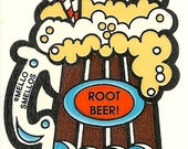 Vintage 80's Mello Smellos ROOT BEER Soda Scratch and Sniff Sticker
