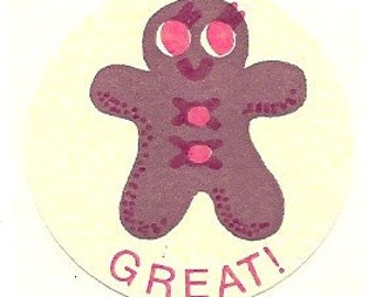 Vintage 1977 CTP Matte GINGERBREAD Scratch and Sniff Sticker