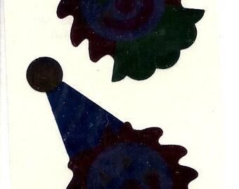 2 Vintage 80's Mylar Hambly Studios Clown Stickers