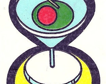 Vintage 80's Mello Smellos MARTINI Scratch and Sniff Sticker