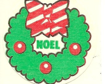 Vintage 80's Trend Matte Christmas Wreath PINE Scratch and Sniff Sticker