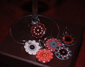 kaleidoscope wine charms