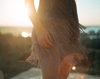 Dance - 8 x 12 Fine art fashion photography print. Warm tones, sunshine, summer feeling. Home decor.