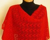 Red shawl /scarf