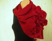 Dark purplish-red scarf, shawl