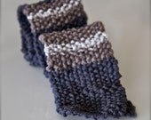 Crocheted Chunky Striped Necktie