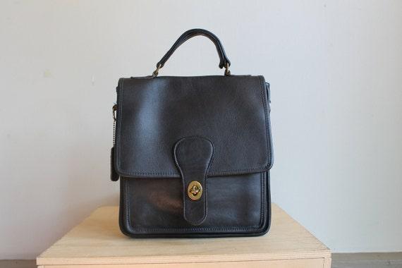 Black Leather Coach Bag  /  Vintage Coach Handbag  /  Willis Bag  /  Satchel Purse