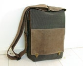 "MANBAG MURSE in canvas and leather - portrait - for Ipad and up to 13"" macbook air"