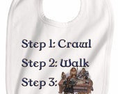Steps crawl walk future roleplayer D and D D&D infant toddler bib