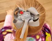 Boutique Elephant Hairbow perfect for Alabama Fans
