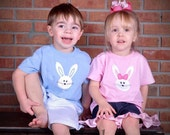 Easter Applique T Shirt Boy or Girl bunny Personalized Holiday Tee sizes 6m-7