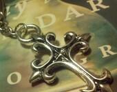 Christian Key Chain - Fleur De Lis - Cross Key Chain