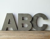 Large Metal Architectural ABC Alphabet Letters From Historic DeLand Florida
